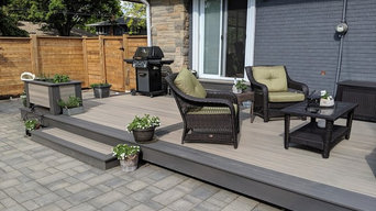 composite deck with contrasting frame