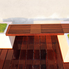 Modern Deck by Stone Cold Concrete