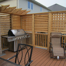 Traditional Deck by JWS Woodworking and Design Inc.