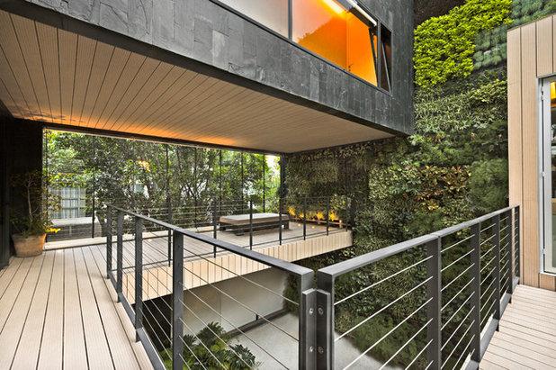 Contemporary Deck Contemporáneo Terraza Y Balcón