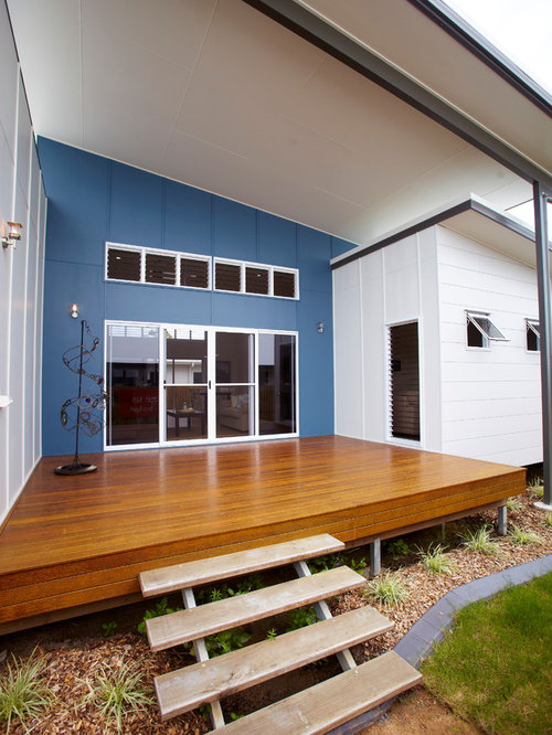 Floating Deck Stairs Houzz