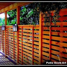 Contemporary Deck by Patio Deck-Art