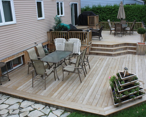 Best Two Level Deck Design Ideas Remodel Pictures Houzz
