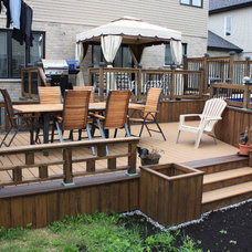 Contemporary Deck by Patio Deck-Art