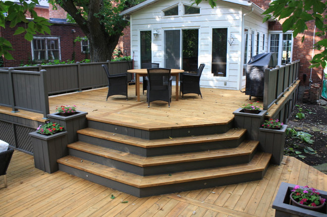 Split level decks for Split level garden decking