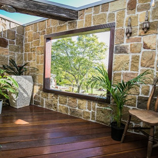 This is an example of a contemporary deck in Sydney.