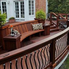 Traditional Patio by Decks by Kiefer LLC