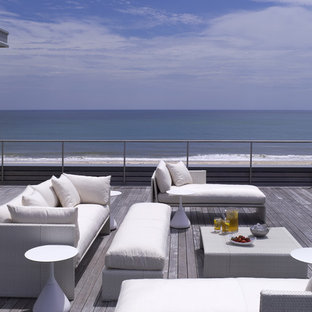 Deck - contemporary deck idea in New York with no cover