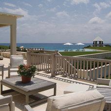 Beach Style Deck Contemporary Patio
