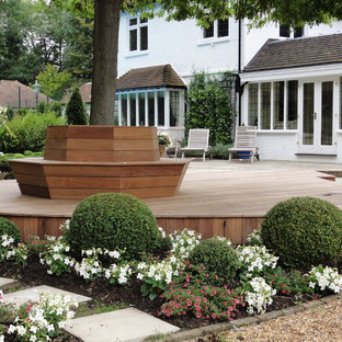 Design ideas for a large contemporary back terrace in London.