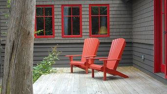 Cottage by the Lake - Charlotte, VT - Adirondack Seating on Back Deck