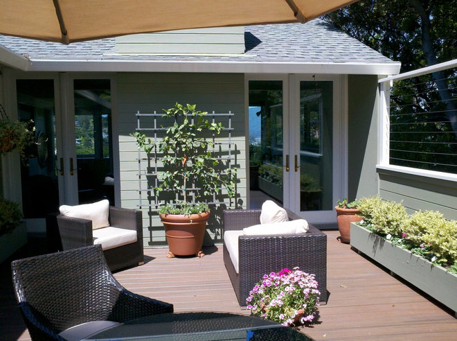 Traditional Deck by Scenic Landscape and Design