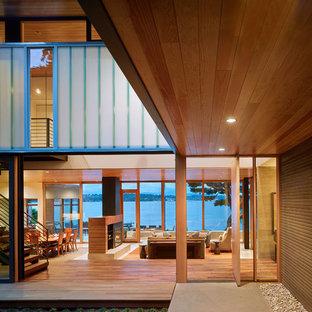 Immagine di terrazze e balconi minimal con nessuna copertura