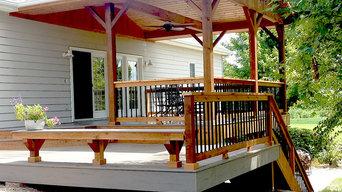 Covered Deck in Cedar