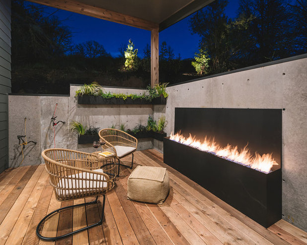 Rustic Deck by Jordan Iverson Signature Homes