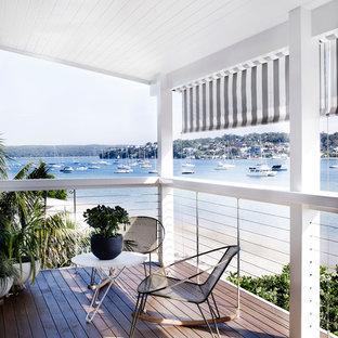 Modelo de terraza contemporánea en anexo de casas
