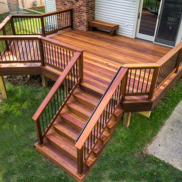 Cumaru hardwood deck with grill area