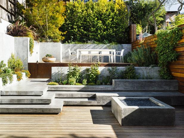 Contemporain Terrasse en Bois by John Maniscalco Architecture