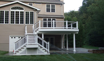 Curved Composite Deck and Rails w/ Finished Area Below and Fire Pit