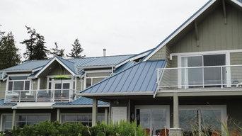 custom aluminum and glass railings
