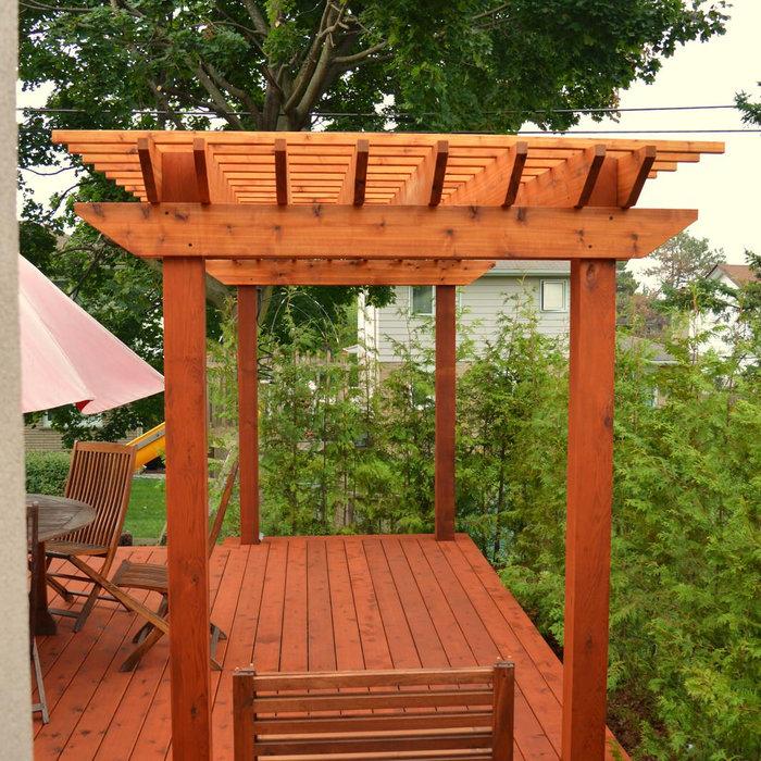Custom Built Deck and Pergola