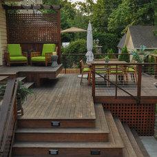 Transitional Deck by CLC Landscape Design