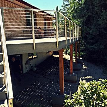 Custom Deck Build with Stainless Steel Railings