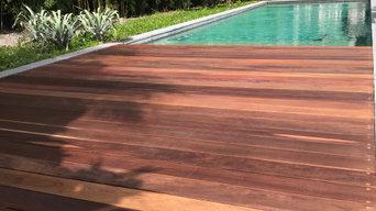 Custom Deck. Natural IPE Wood. Coral Gables