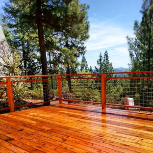 Cette image montre une petite terrasse craftsman.