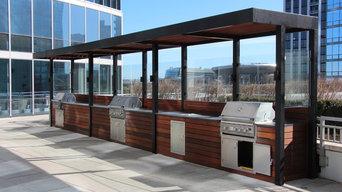 Custom made roof kitchen.