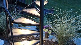 Custom Metal Rail and Spiral Stair