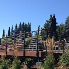 Modern Deck by L&L Landscaping, Design - Build