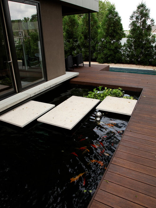 Fish pond ideas pictures remodel and decor for Koi pond deck