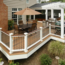 Traditional Exterior by Fine Decks Inc