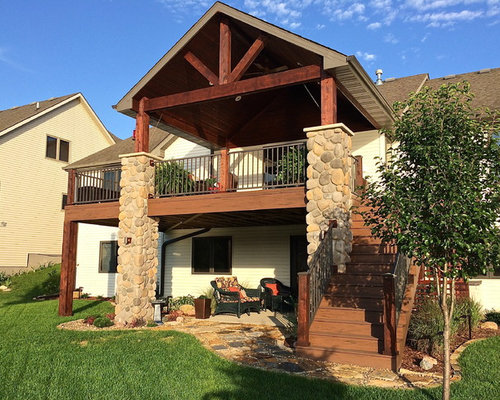 2nd story deck stairs home design ideas pictures remodel for 3 story deck design