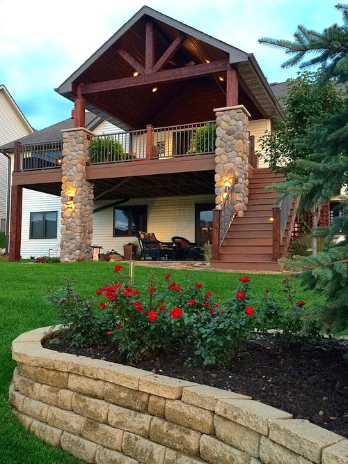 2nd story deck stairs home design ideas pictures remodel for Second story deck plans pictures