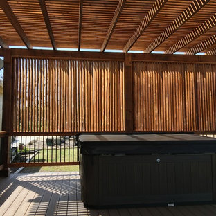 Deck & Pergola w/ Privacy Wall for Hot Tub: Marion, TX