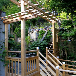 Deck and Wisteria Pergola