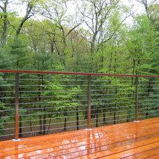 Contemporary Deck by Buchanan Custom Builders
