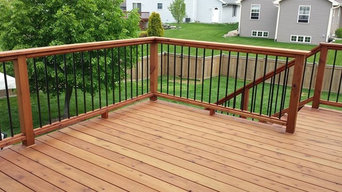 Deck in Madison WI built with sustainably harvested California Redwood
