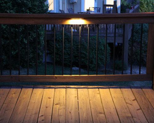 Deck lighting using low voltage under railing led lights aloadofball Gallery