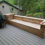 Ipe Deck With Hot Tub Modern Deck Toronto By