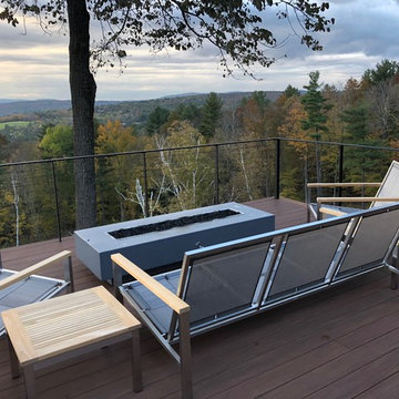 Deck Railing with black cables
