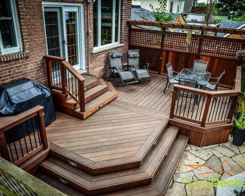 deck privacy screen houzz. Black Bedroom Furniture Sets. Home Design Ideas