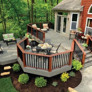 Idee per una terrazza chic di medie dimensioni e dietro casa con nessuna copertura
