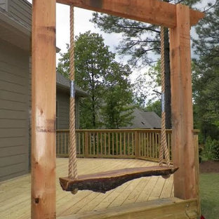 Medium sized rustic back terrace and balcony in Birmingham with no cover.