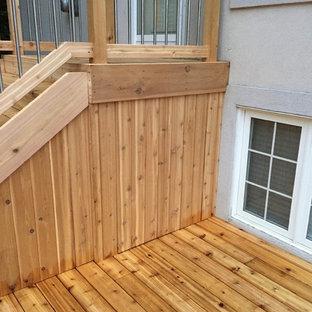 Immagine di terrazze e balconi american style dietro casa