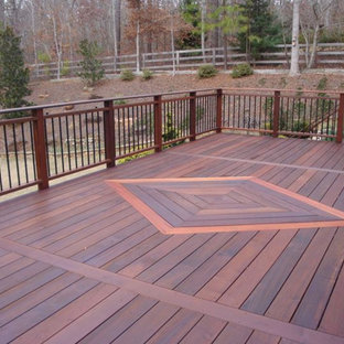 Inspiration for a large transitional backyard deck remodel in Atlanta with no cover