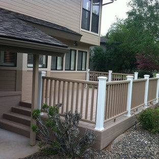 Deck - mid-sized traditional backyard deck idea in Boise with no cover