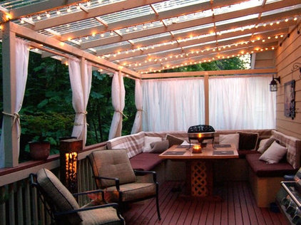 Traditional Deck by Lily Ann Cabinets